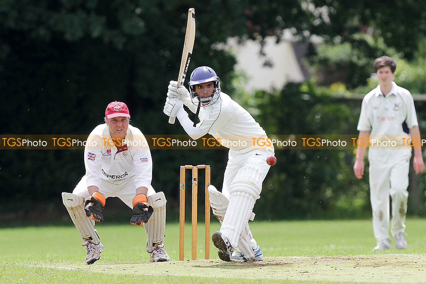 Govinda Tiwari in batting action for Hornchurch - Hornchurch CC 5th XI vs Upminster CC 6th XI - Essex Cricket League at Met Police Sports Ground, Chigwell - 25/06/11 - MANDATORY CREDIT: Gavin Ellis/TGSPHOTO - Self billing applies where appropriate - Tel: 0845 094 6026