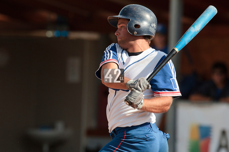 19 August 2010: Brice Lorienne of Team France is seen at bat during France 7-6 win over Slovakia, at the 2010 European Championship, under 21, in Brno, Czech Republic.
