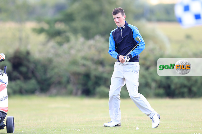 Tommy Smyth (Castle) during the final round of the Irish U16 Championship at The Heath Golf Club, Portlaoise, Co Laois  Ireland.  21/08/2015.<br /> Picture: Golffile | Fran Caffrey<br /> <br /> <br /> All photo usage must carry mandatory copyright credit (&copy; Golffile | Fran Caffrey)