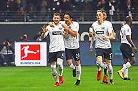 celebrate the goal, Torjubel zum 1:0 von Ante Rebic (Eintracht Frankfurt) mit Makoto Hasebe (Eintracht Frankfurt) - 03.11.2017: Eintracht Frankfurt vs. SV Werder Bremen, Commerzbank Arena