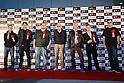 (L to R) Actors Billy Boyd, Matthew Lewis, writer C.B. Cebulski, comic book writer Stan Lee, actors Lance Henriksen, Daniel Logan and Entertainment Legends President John Alcantar pose for the cameras during the red carpet for the Tokyo Comic Con at Makuhari Messe International Exhibition Hall on December 2, 2016, Tokyo, Japan. Tokyo's Comic Con is part of the San Diego Comic-Con International event and is being held for the first time in Japan from December 2 to 4, 2016. (Photo by Rodrigo Reyes Marin/AFLO)