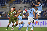 Joao Pedro of Cagliari and Patric Gil of SS Lazio compete for the ball during the Serie A football match between SS Lazio and Cagliari Calcio at Olimpico stadium in Rome ( Italy ), July 23th, 2020. Play resumes behind closed doors following the outbreak of the coronavirus disease. Photo Andrea Staccioli / Insidefoto