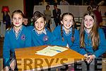 Taking part in the Cahersiveen Credit Unions schools Quiz on Sunday in Foilmore were pupils from Scoil Mhichíl Naofa pictured l-r; Muirinn Ní Chonaill, Robyn Ní Churnáin, Jessica Nic an Ghaill agus Cadhla Ní Ghiní.