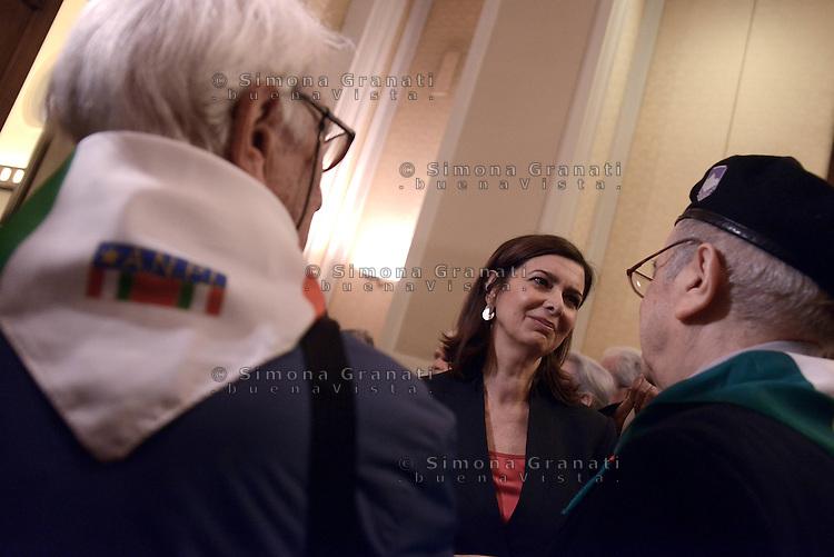 Roma, 16 Aprile 2015<br /> Laura Boldrini incontra le partigiane e i partigiani.<br /> Celebrazione alla Camera dei deputati del 70&deg; anniversario della liberazione dal nazifascismo.