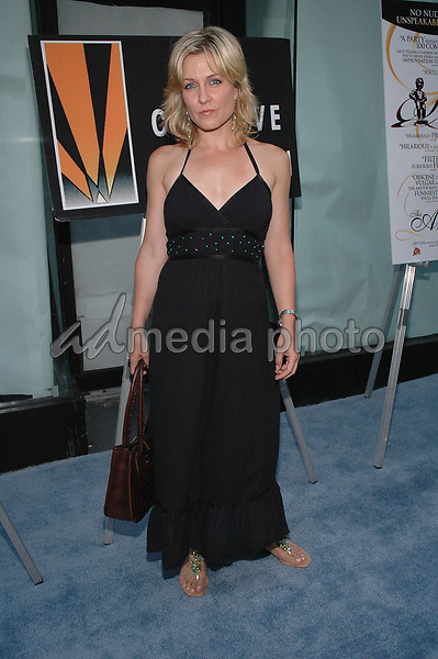 26 July 2005 - New York, New York - Amy Carlson arrives at the premiere of her new film, &quot;The Aristocrats&quot;, at The Directors Guild Theater in Manhattan.  <br />