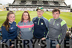 Caoimhe, Marie, Dara and Dan Lehane, Kilcummin, pictured at the Kerry v Cork Munster Final held at Páirc Uí Chaoimh, Cork, on Saturday evening last.​