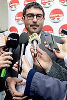 """Roma, 8 Aprile 2019<br /> Nicola Fratoianni.<br /> Presentazione  del simbolo per le elezioni europee della lista """"La Sinistra"""",  che in Europa fa riferimento al Partito della Sinistra Europea e al gruppo parlamentare """"Sinistra Unitaria Europea/Sinistra Verde Nordica"""" (Gue/Ngl)."""
