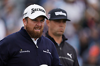 Shane Lowry (IRL) Gary Woodland (USA) on the 17th tee during the 2nd round of the US Open Championship, Pebel Beach Golf Links, Monterrey, Calafornia, USA. 14/06/2019.<br /> Picture Fran Caffrey / Golffile.ie<br /> <br /> All photo usage must carry mandatory copyright credit (© Golffile | Fran Caffrey)