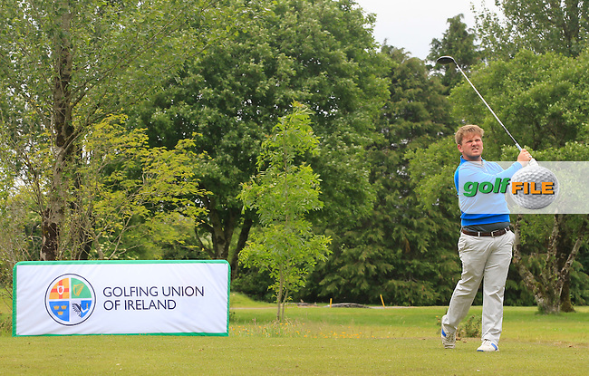 Samuel Ledbury (Belgium) on the 9th tee during Round 3 of the Irish Boys Amateur Open Championship at Tuam Golf Club on Thursday 25th June 2015.<br /> Picture:  Thos Caffrey / www.golffile.ie