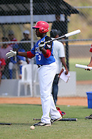 Vladimir Guerrero participates in the Dominican Prospect League 2014 Louisville Slugger Tournament at the New York Yankees academy in Boca Chica, Dominican Republic on January 20-21, 2014 (Bill Mitchell)