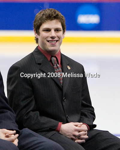 The Hobey Baker was awarded on Friday, April 11, 2008 at the Pepsi Center in Denver, Colorado during the 2008 Frozen Four.Nate Gerbe (BC 9) - The Hobey Baker was awarded on Friday, April 11, 2008 at the Pepsi Center in Denver, Colorado during the 2008 Frozen Four.