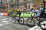 Chris Froome (GBR) Team Sky and Simon Yates (GBR) Orica-Scott in action during Stage 16 of the 104th edition of the Tour de France 2017, running 165km from Le Puy-en-Velay to Romans-sur-Isere, France. 18th July 2017.<br /> Picture: ASO/Bruno Bade | Cyclefile<br /> <br /> <br /> All photos usage must carry mandatory copyright credit (&copy; Cyclefile | ASO/Bruno Bade)