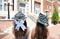 Graduating roommates pose for photos in front of Lee Hall: Alexandra Pasley (Psychology major from Lakeland, TN) and Erin Groth (Marketing major from Destin, FL).<br />  (photo by Megan Bean / &copy; Mississippi State University)