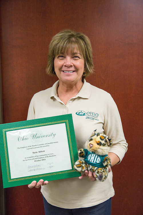 Susie Abbott, one of the staff members in Student Services, has been selected as the Classified Employee of the Month for October.
