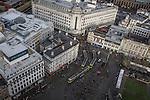 © Joel Goodman - 07973 332324 . 07/12/2013 . Primark , trams, Piccadilly Gardens , Debenhams . Cityscape view of Manchester . Photo credit : Joel Goodman