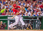22 August 2015: Washington Nationals infielder Anthony Rendon in action against the Milwaukee Brewers at Nationals Park in Washington, DC. The Nationals defeated the Brewers 6-1 in the second game of their 3-game weekend series. Mandatory Credit: Ed Wolfstein Photo *** RAW (NEF) Image File Available ***