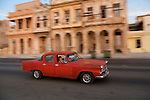 More than 60 000 old american cars are still used in the streets of La Habana and the roads of Cuba. Malecon. La Habana