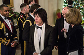 Musician Jeff Beck arrives at the Kennedy Center Honors reception at the White House on December 2, 2012 in Washington, DC. The Kennedy Center Honors recognized seven individuals - Buddy Guy, Dustin Hoffman, David Letterman, Natalia Makarova, John Paul Jones, Jimmy Page, and Robert Plant - for their lifetime contributions to American culture through the performing arts..Credit: Brendan Hoffman / Pool via CNP