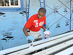 Donis Leonard Jr. at the Habitat For Humanity With Stars From Shamless and House Of Lies help build homes in Los Angeles, CA. October 25, 2014.