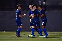 Miami, FL - Tuesday, October 15, 2019:  Sebastian Soto #9, Goal Celebration, Brooks Lennon #11, Djordje Mihailovic #8, Alex Mendez #10 during a friendly match between the USMNT U-23 and El Salvador at FIU Soccer Stadium.