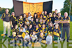 Dr Crokes supporters who are building the excitement the County Final against Stacks at the clubs field in Lewis Road Killarney on Wednesday evening