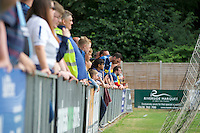 Wycombe Wanderers fans during the Friendly match between Maidenhead United and Wycombe Wanderers at York Road, Maidenhead, England on 30 July 2016. Photo by Alan  Stanford PRiME Media Images.