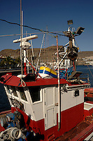 Colourful fishing boat cabin,Puerto Mogan, Gran Canaria, Canary Islands, Spain