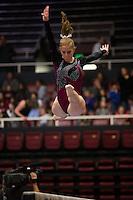 Stanford, California - January 26, 2014: Stanford Women's Gymnastics vs Oregon State on Monday night at Maples Pavilion.