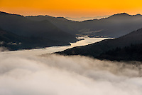 Sunrise over Kenepuru Sound in Marlborough Sounds, Nelson Region, Marlborough, South Island, New Zealand