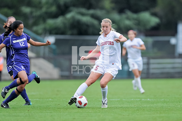 STANFORD, CA - October 17, 2010: Courtney Verloo during a soccer match against Washington in Stanford, California.  Stanford won 2-1.