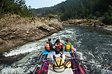 USA, Oregon, Wild and Scenic Rogue River in the Medford District, running the final streatch of river to the Foster Bar take out