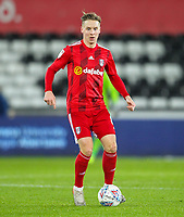 29th November 2019; Liberty Stadium, Swansea, Glamorgan, Wales; English Football League Championship, Swansea City versus Fulham; Stefan Johansen of Fulham brings the ball forward during the match - Strictly Editorial Use Only. No use with unauthorized audio, video, data, fixture lists, club/league logos or 'live' services. Online in-match use limited to 120 images, no video emulation. No use in betting, games or single club/league/player publications