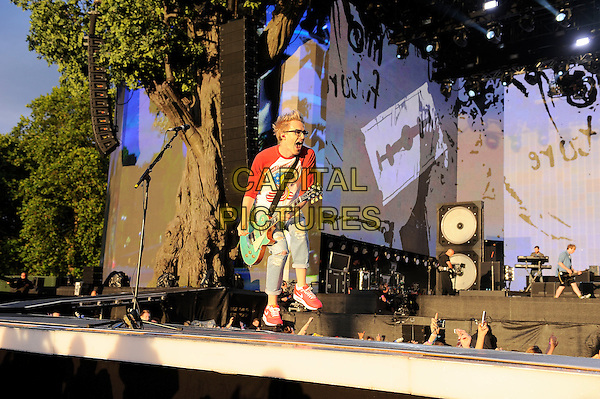 LONDON, ENGLAND - JULY 6: Tom Fletcher of 'McBusted' performs live at British Summertime, Hyde Park on July 6, 2014 in London, England.<br /> CAP/MAR<br /> &copy; Martin Harris/Capital Pictures