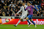 Real Madrid´s Karim Benzema and Levante UD´s Ivan Lopez during 2014-15 La Liga match between Real Madrid and Levante UD at Santiago Bernabeu stadium in Madrid, Spain. March 15, 2015. (ALTERPHOTOS/Luis Fernandez)