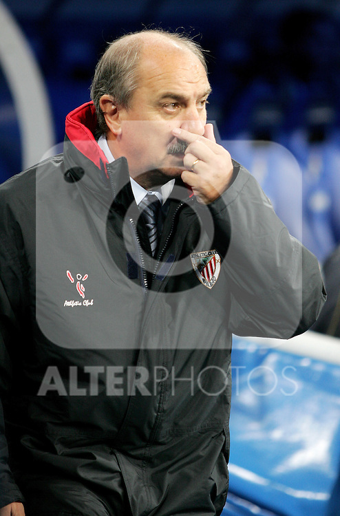 Athletic de Bilbao's coach Mane before Spain La Liga match between Real Madrid and Athletic de Bilbao at Santiago Bernabeu stadium in Madrid, Sunday December 03, 2006. (ALTERPHOTOS/Alvaro Hernandez).