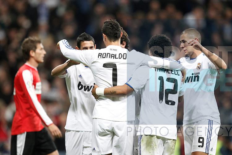 MADRID (10/11/2010).- Real Madrid's Cristiano Ronaldo cellebrates goal during Spanish King's Cup match...Photo: Cesar Cebolla / ALFAQUI