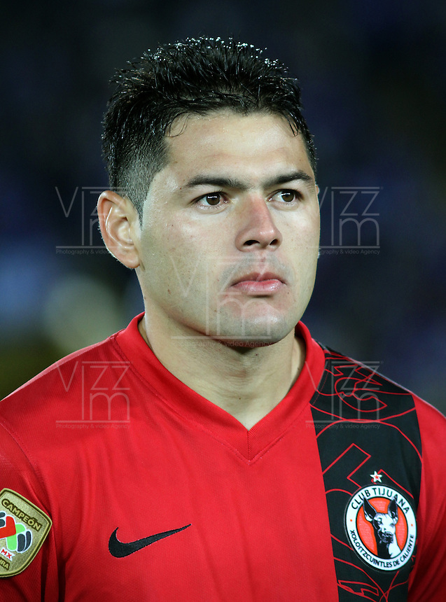 BOGOTA-COLOMBIA-19-02-2013 . Pablo Aguilar   de Tijuana de México antes de su encuentro  contra   Los Millonarios de Colombia   por el  grupo cinco  de  la ronda de clasificación de la Copa Bridgestone Libertadores . Pablo Aguilar Tijuana in Mexico before their game against the millionaires of Colombia by the group five of the qualifying round of the Copa Libertadores Bridgestone.  ( Photo / VizzorImage / Felipe Caicedo / Staff