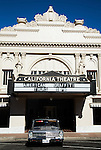 The California Theater in Pittsburg, California provided a backdrop for the summer car show on Thursday, July 11th, 2013 in Pittsburg,  California.  Photo/Victoria Sheridan