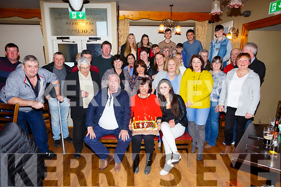 Sheila Coffey seated front centre from Cahersiveen celebrated her 50th birthday with family and friends in Franks Corner Bar Cahersiveen on Saturday night.
