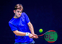 Hilversum, Netherlands, December 3, 2017, Winter Youth Circuit Masters, 12,14,and 16, years, Stijn Pel (NED)<br /> Photo: Tennisimages/Henk Koster