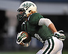 Locust Valley No. 44 Nick Petralia returns a kick during a Nassau County varsity football Conference IV semifinal against West Hempstead at Hofstra University on Thursday, Nov. 12, 2015. Locust Valley won 34-10.<br /> <br /> James Escher
