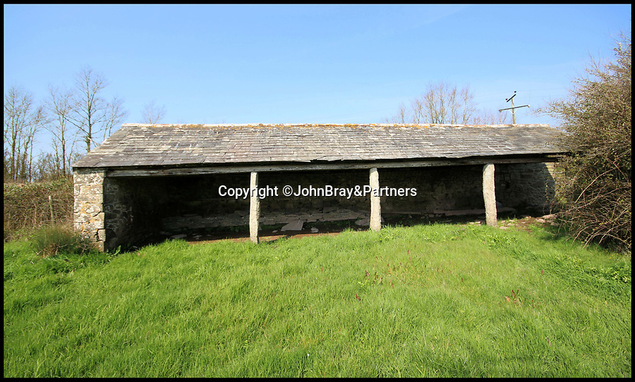 BNPS.co.uk (01202 558833)<br /> Pic:   JohnBray&Partners/BNPS<br /> <br /> Right Moooooove?.....<br /> <br /> A dilapidated stone cow shed that has no front or side walls has gone on the market for a staggering £150,000.<br /> <br /> That is because the ruined barn has planning permission to turn it into a two bedroom cottage in a desirable part of Cornwall.<br /> <br /> The ramshackle outbuilding is on the edge of a farm in the village of Chapel Amble which is just five miles from the trendy resort of Rock.