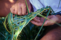 Hawaiian tradition of weaving hats