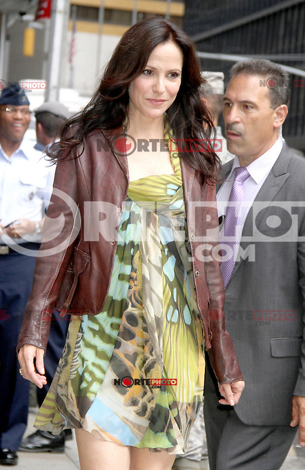 NEW YORK, NY - August 21 , 2012: Mary-Louise Parker at The Ed Sullivan Theater for an appearance on Late Show with David Letterman in New York City. &copy; RW/MediaPunch Inc. /NortePhoto.com<br />