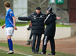 St Johnstone v Rangers...14.01.12  .Steve Lomas rages at fourth official Brian Colvin.Picture by Graeme Hart..Copyright Perthshire Picture Agency.Tel: 01738 623350  Mobile: 07990 594431
