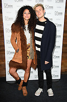 Vick Hope &amp; Jimmy Hill arriving for the Natural History Museum Ice Rink launch party 2017, London, UK. <br /> 25 October  2017<br /> Picture: Steve Vas/Featureflash/SilverHub 0208 004 5359 sales@silverhubmedia.com