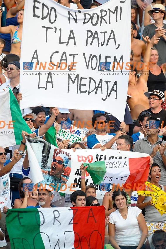 Roma 31st July 2009 - 13th Fina World Championships .From 17th to 2nd August 2009.Men's 200m Breaststroke.Tifosi di Edoardo  GIORGETTI (ITA).Roma2009.com/InsideFoto/SeaSee.com .Foto Andrea Staccioli Insidefoto