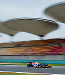 Red Bull Racing driver Sebastian Vettel of Germany speeds his car during the UBS Chinese F1 Grand Prix at Shanghai International circuit April 13, 2012. Photo by Victor Fraile