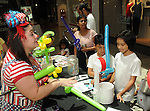Kids receive balloons at the M.D. Anderson Back to School Fashion show at the Galleria Saturday Aug. 06,2016.(Dave Rossman Photo)