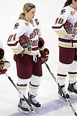 Andrea Green (BC - 21) - The Boston College Eagles defeated the visiting St. Lawrence University Saints 6-3 (EN) in their NCAA Quarterfinal match on Saturday, March 10, 2012, at Kelley Rink in Conte Forum in Chestnut Hill, Massachusetts.